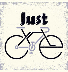lettering composition on theme cycling vector image
