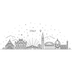 linear icon for italy vector image