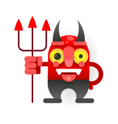 little funny devil in cartoon style for your vector image