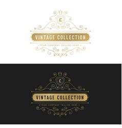 luxury logo crests logo logo design for hotel vector image