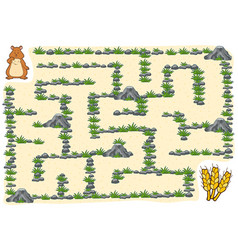 maze game for children hamster vector image