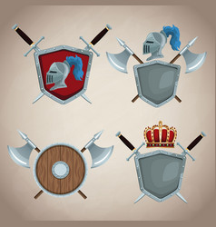 medieval emblem insignia vector image
