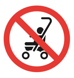 no baby carriage icon simple style vector image