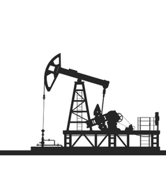 Oil pump silhouette isolated on white background vector image