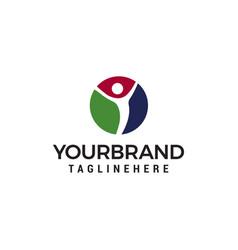 People healthy logo design concept template vector