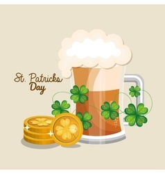 Saint patrick day green beer vector