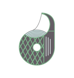 Scotch tape dispenser icon in flat design vector