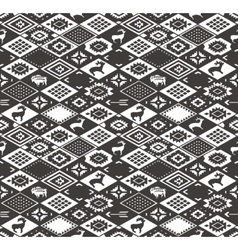 Seamless colorful navajo pattern with rhombus vector