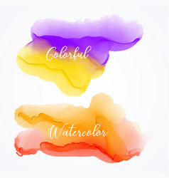set of bright watercolor stain background vector image