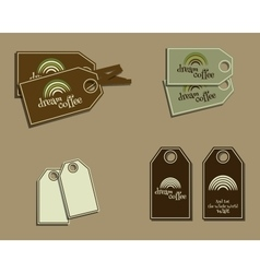 Set of coffee brand identity labels - stickers for vector