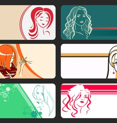 Set of visite card vector image