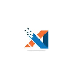 shape technology colored logo vector image