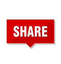 Share red tag vector