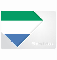 Sierra leone flag design background vector