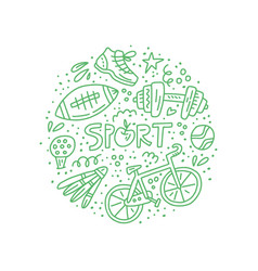 sport and fitness doodle vector image