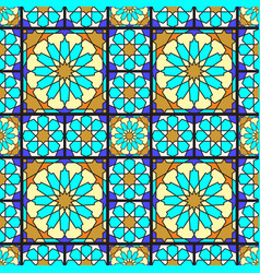 Stained glass pattern vector
