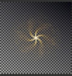 swirl star dust shine light effect backgro vector image