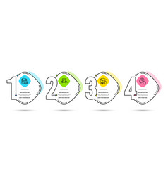 Vacancy receive file and certificate icons vector