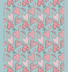 valentines cute pattern vector image