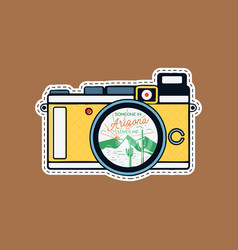 vintage adventure badge patch with mountains vector image