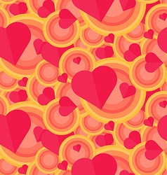 Vintage Seamless Romantic Pattern vector image