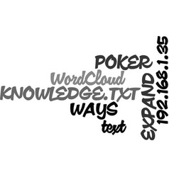 Ways to expand your poker knowledge text word vector