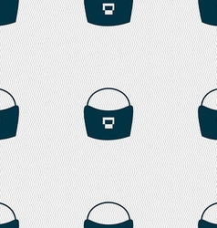 Woman hand bag icon sign Seamless pattern with vector