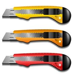 Cutter knife set vector image