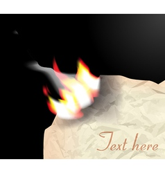 Flame on paper vector image vector image