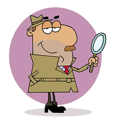 Hispanic Cartoon Investigator Man vector image vector image