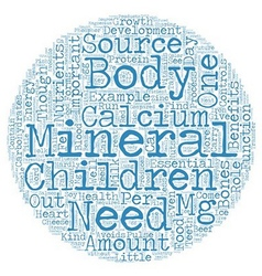 Minerals For Your Children Minor Yet Important vector image vector image