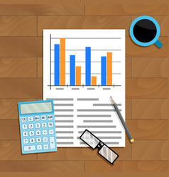 research and count statistics vector image