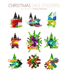 Shiny holiday New Year and Christmas sale banners vector image
