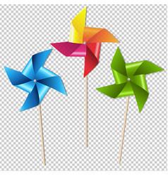 colorful pinwheels vector image vector image