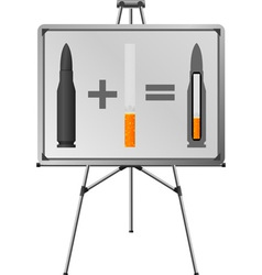 easel and sigaret cartridge vector image vector image