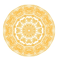 round ornament in yellow color vector image vector image
