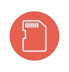 SIM card thin line icon vector image