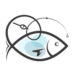 symbol for fishing vector image