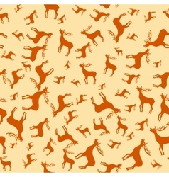 Vintage Christmas deer elements Reindeer seamless vector image