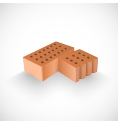 Brick and a Half of it Realistic Template vector image