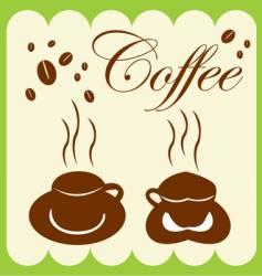 coffee cup and coffee bean vector image vector image
