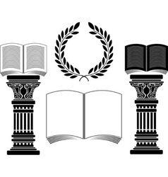 education stencil first variant vector image vector image
