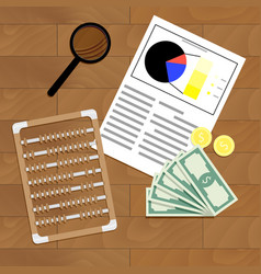 financial statistics and analysis vector image