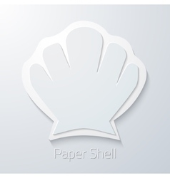 Summer Travel Paper Sea Shell flat icon vector image