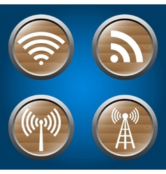 wireless icons set for business or commercial use vector image vector image