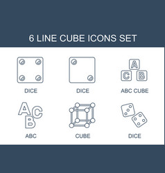 6 cube icons vector