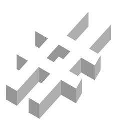 A hashtag in 3d vector