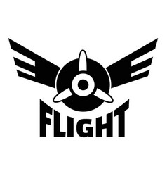 Air flight logo simple style vector