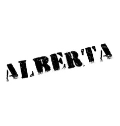 Alberta stamp rubber grunge vector image