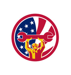 American mechanic usa jack flag icon vector